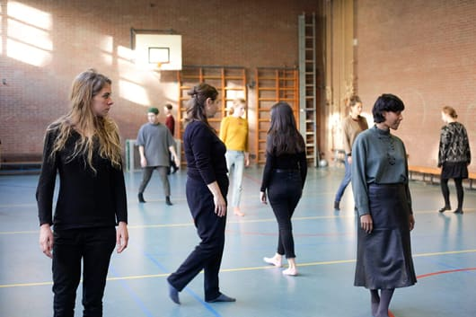 Myriam Lefkowitz, 'Practising Attention', workshop, presented by If I Can't Dance at de Tagerijn, Amsterdam, 17 November 2017. Photo: Coco Duivenvoorde.